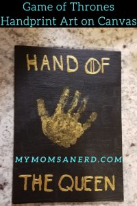 Game of Thrones Handprint Art on Canvas