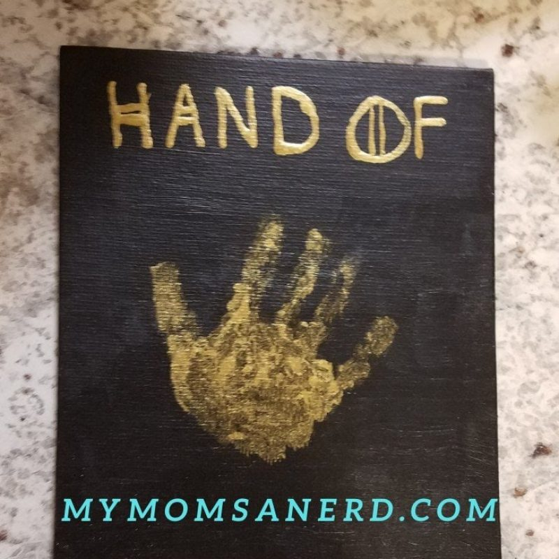 Game of Thrones Handprint Art on Canvas with your Kids!