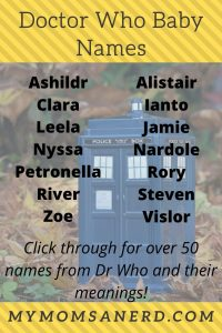 Dr Who Baby Names: 51 Geeky & Nerdy Names