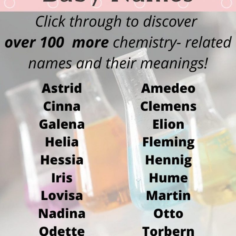 Chemistry Baby Names: 135 Geeky Chemistry Related Names and Their Origins