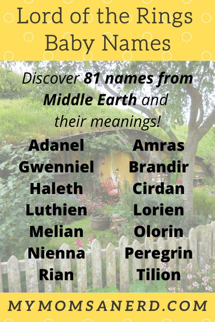 lord of the rings baby names