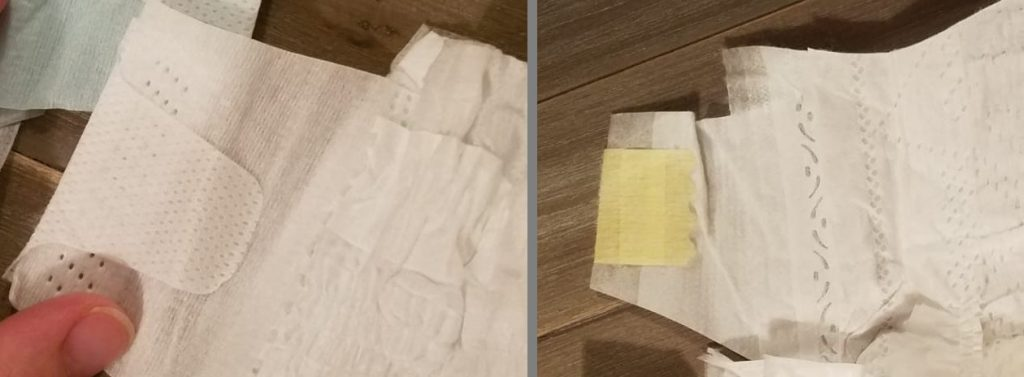 Costco diapers vs pampers diaper tabs