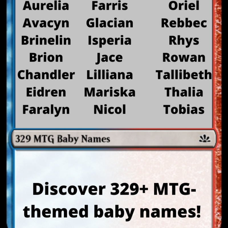 329 Unique Magic: The Gathering Baby Names