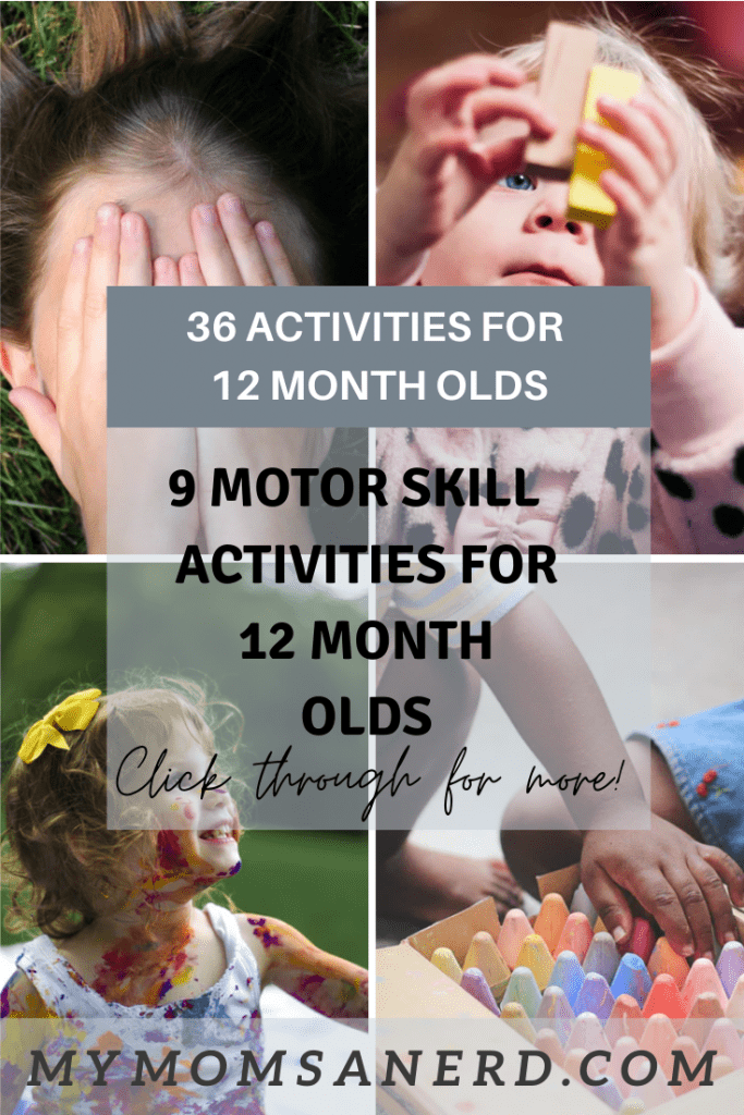 motor skill activities for 12 month olds