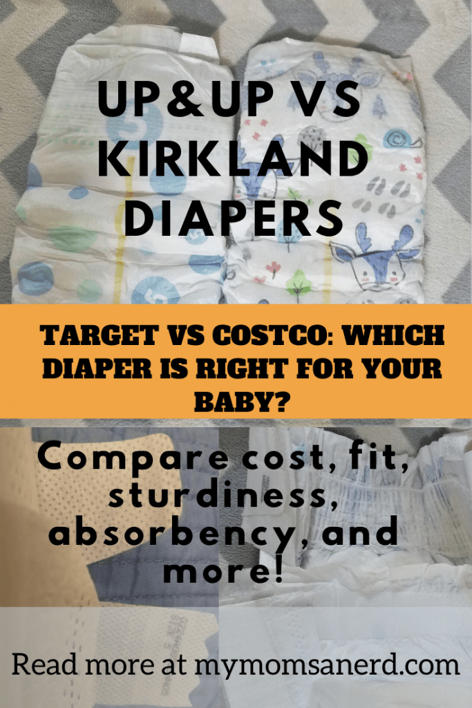 Up and Up vs Kirkland Diapers: Compare Target and Costco's Store Brand Diapers