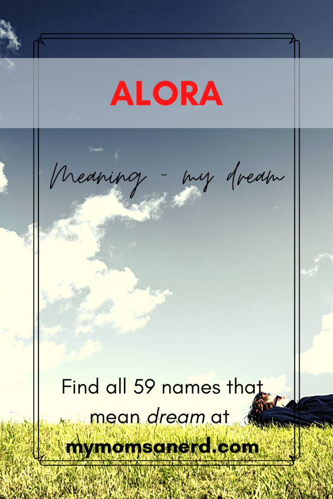 alora names that mean dream