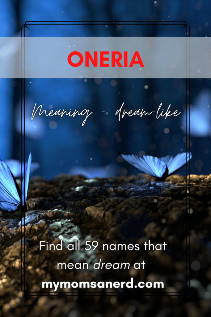 oniria names that mean dream