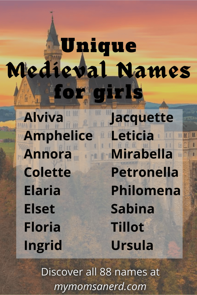 medieval names for girls