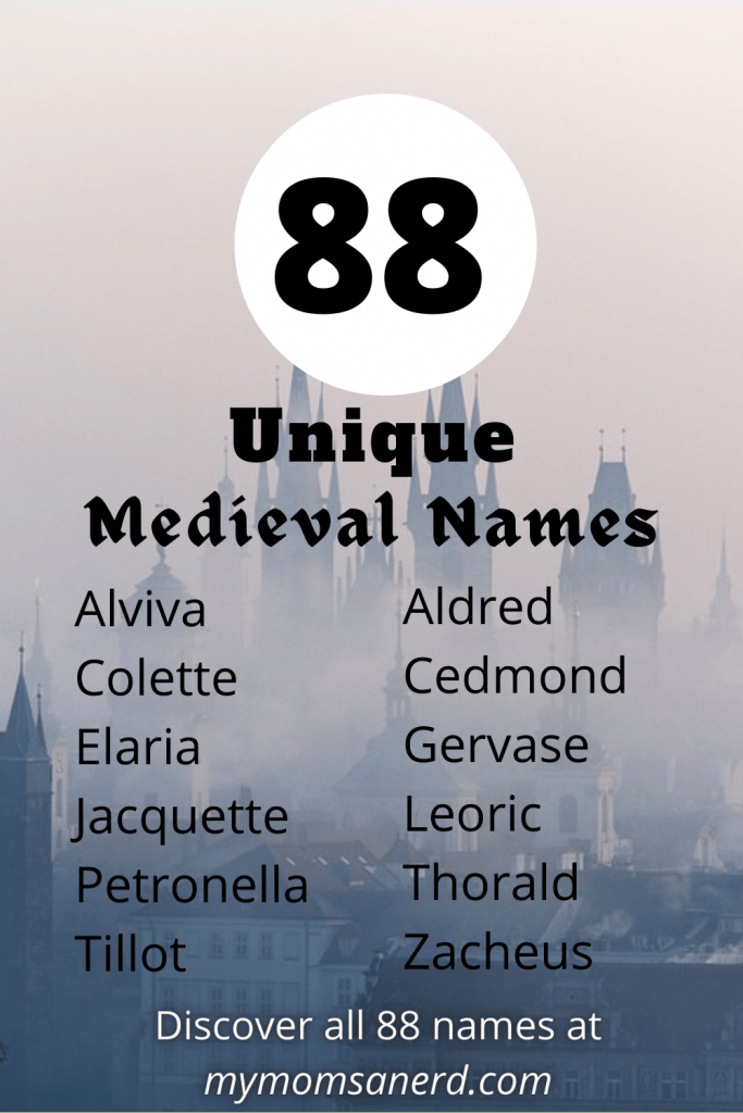 88 Unique Medieval Baby Names You Can Use Today