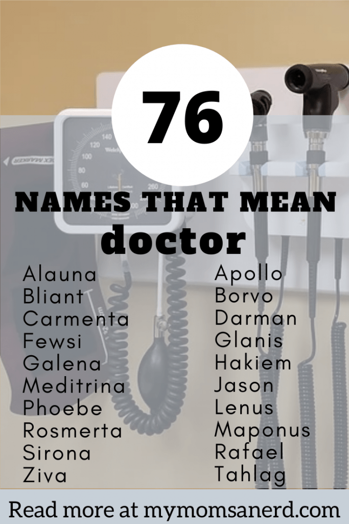 76 names that mean doctor healing or medicine