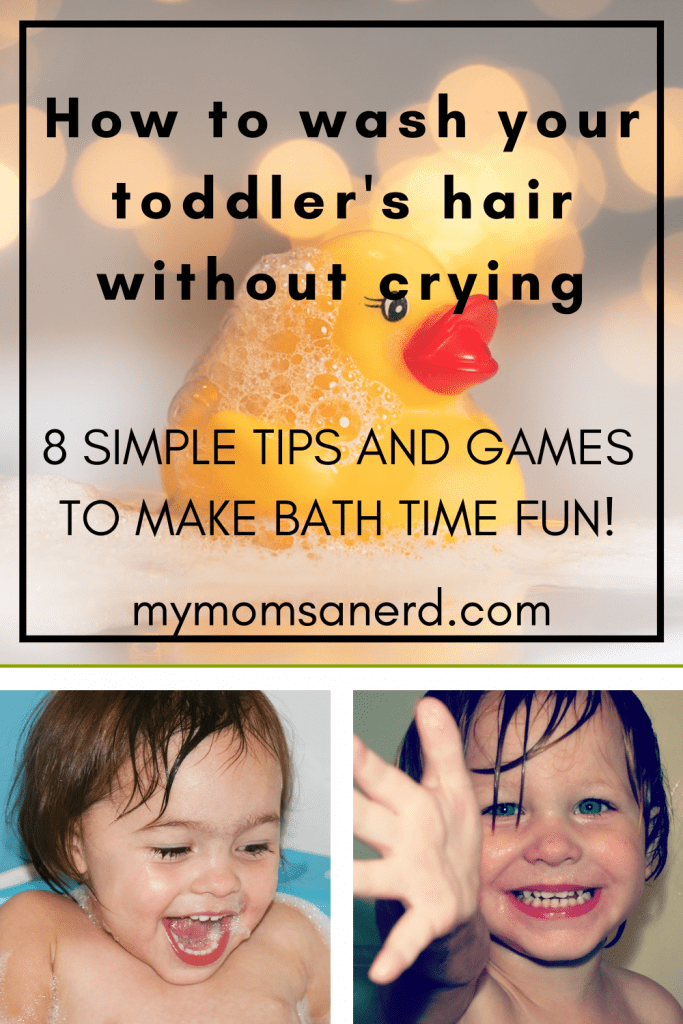 pin - how to wash your toddlers hair without crying - 8 simple tips and games to make bath time fun