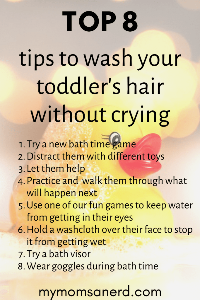 how to clean your toddlers hair without crying