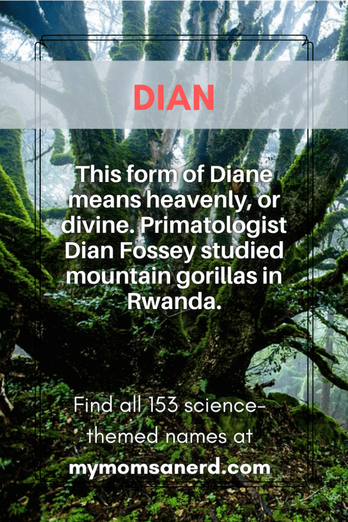 science baby names - Dian