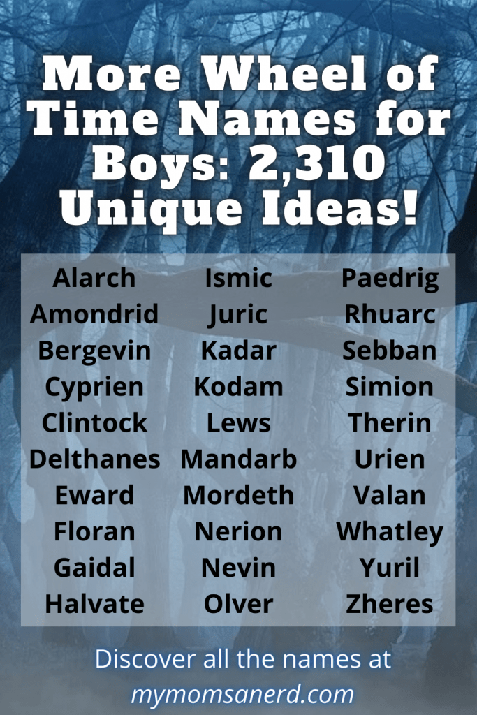 more wheel of time names for boys