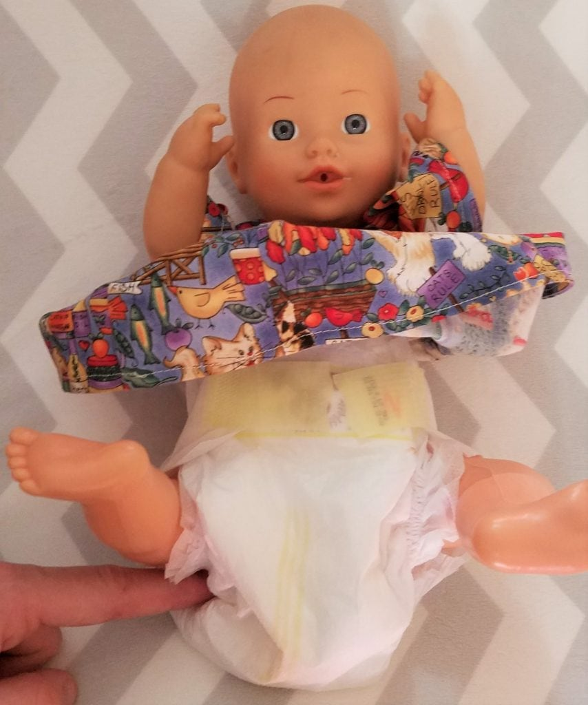 bunched up diaper