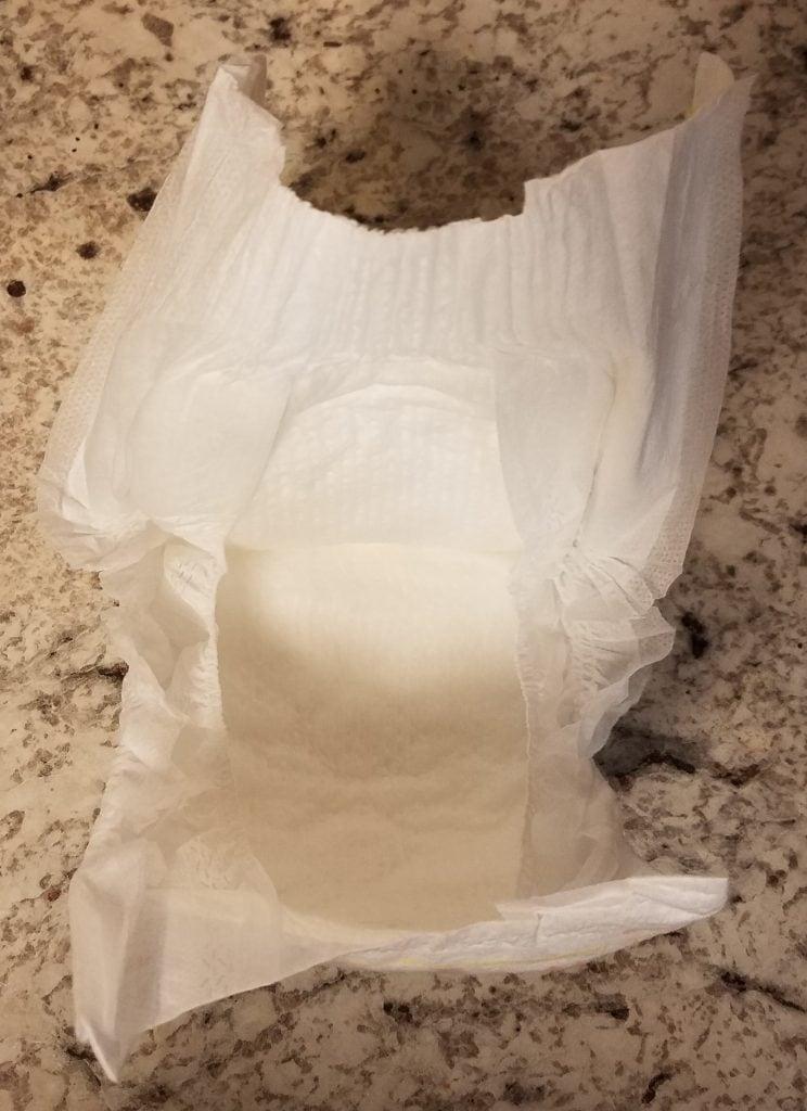 members mark diaper review - interior of diaper