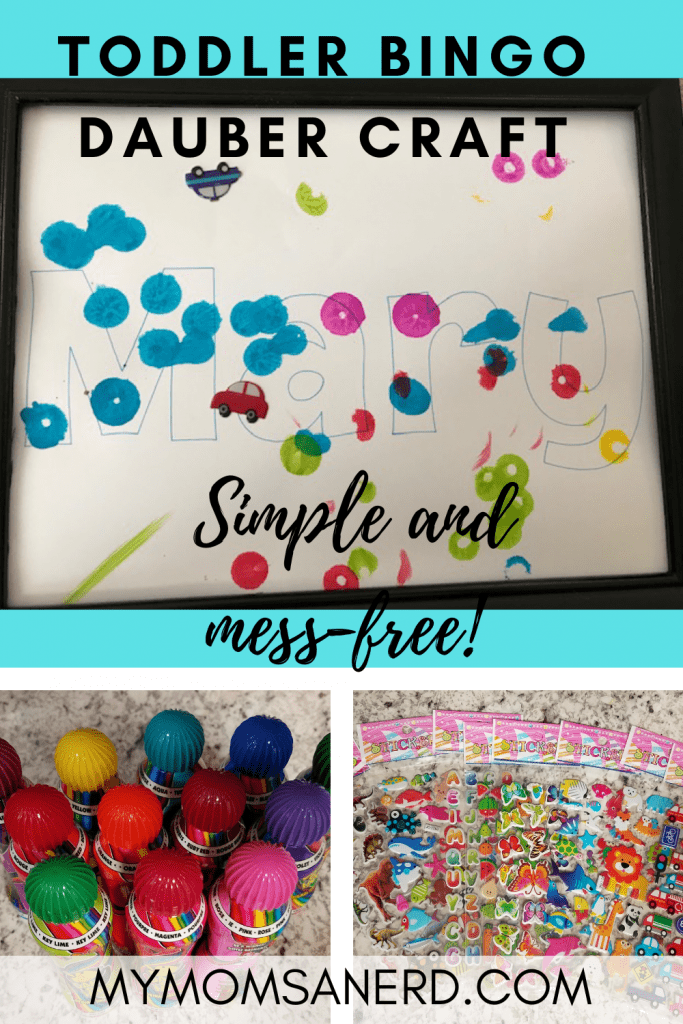 Bingo Dauber Name Art | Inside Craft to do with a Toddler