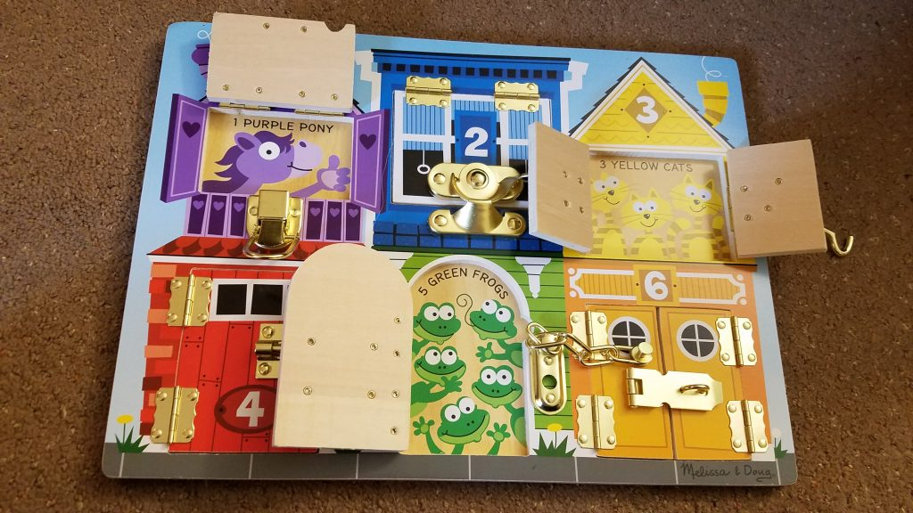 melissa and doug latches board review