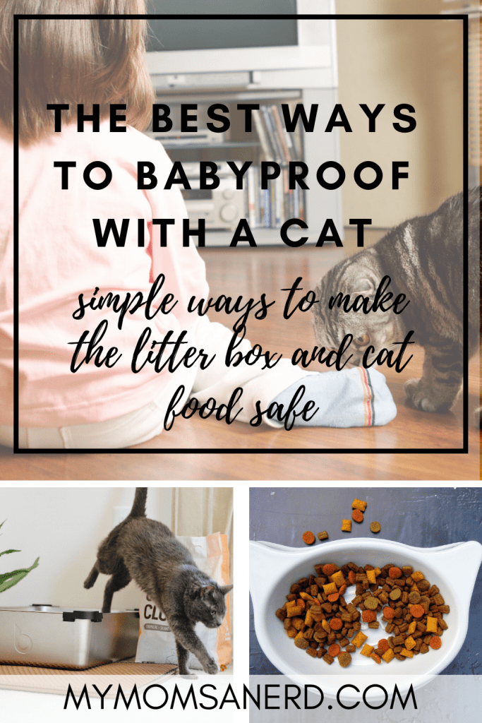 Read more about the article Babyproofing with cats |  How to childproof cat food and the litter box