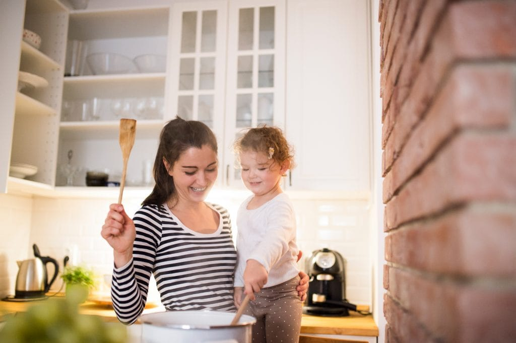 where should I put my toddler when I cook?